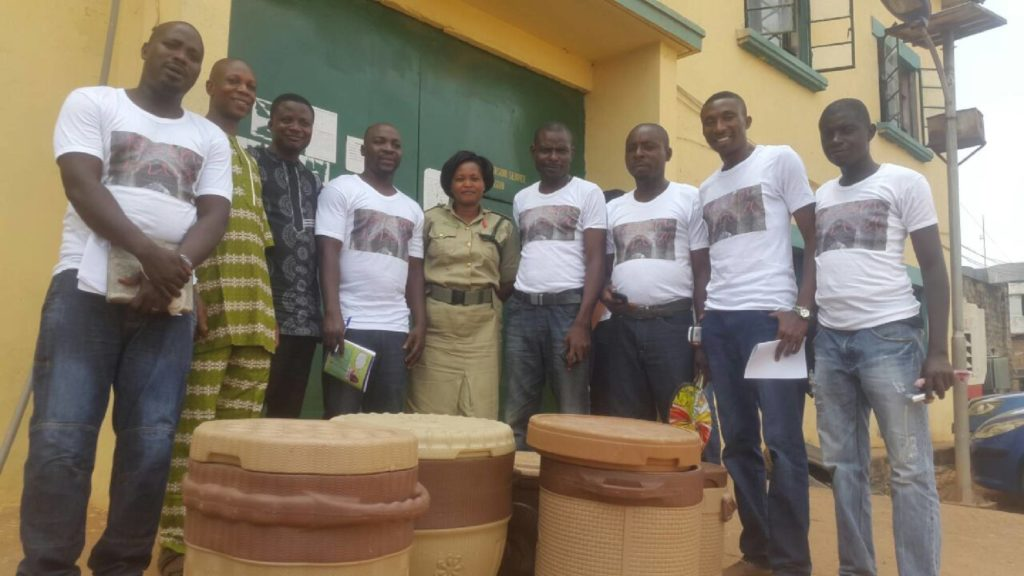 Charity team visit to Agodi prison in 2017